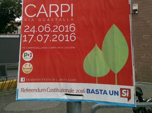 pretty nice 11684 ea941 Referendum-Pd-Carpi Politica - Voce Settimanale di Attualità ...